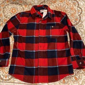Brand New Boys Flannel Button Shirt 7/8 M